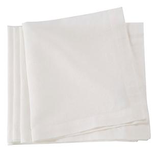 Set 4 Servilletas Blanco