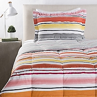 Plumón Estampado Stripes Cálido 1.5 Plazas