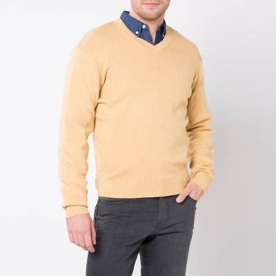 Sweater Cuello V Liso