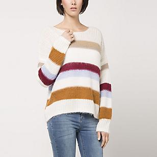 Sweater Holgado Diseño Rayas