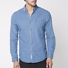 Camisa Manga Larga Denim