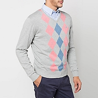 Sweater Cuello en V Rombos