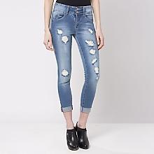 Jeans 2 Botones Full Destroy