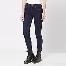 Jeans Ajustado Detalle Cierres