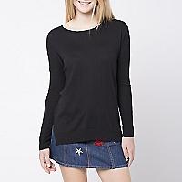 Sweater Liso Detalle Mangas