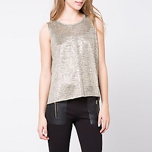 POLERA LISA MC POS004ZH GOLD SAS XS