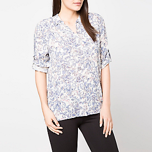 Blusa Manga Larga Estampada