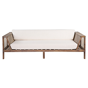 Sofá 3 Cuerpos Lounge Rattan Sintético 230 cm