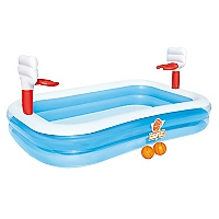 Piscina Inflable Basketb Multicolor