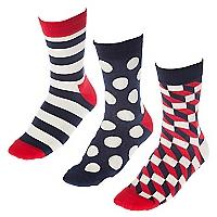 Pack de 3 Calcetines Sock Geomet P3