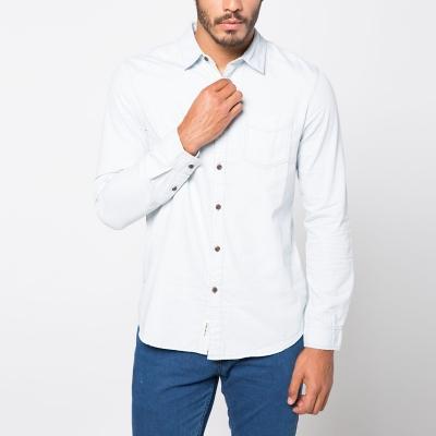 Camisa Cuello Clásico Jaspeada