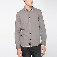 Camisa Manga Larga Slim Texturada