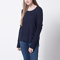 Sweater Liso Cortes en Costados