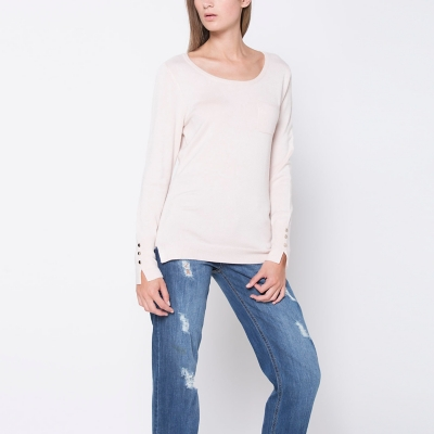 SWEATERS ML BSCSWB301 PALE ROSE L