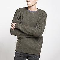 Sweater Manga Larga Trenzas