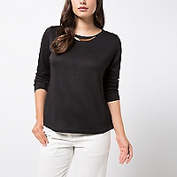 Sweater Liso Detalle Escote