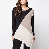 Sweater Corte Diagonal