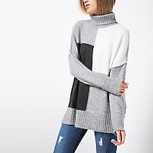 Sweater Cuello Beatle Tricolor
