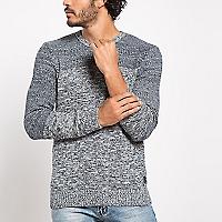Sweater Manga Larga Jaspeado