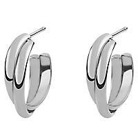Aros Crossed Hooped Earring J01756-01