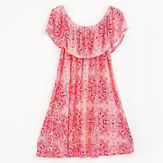 VESTIDO CASUAL  CAMPESINOP TROPICAL SUNSET 10