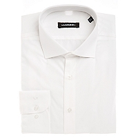 Camisa Lisa Blanca Regular