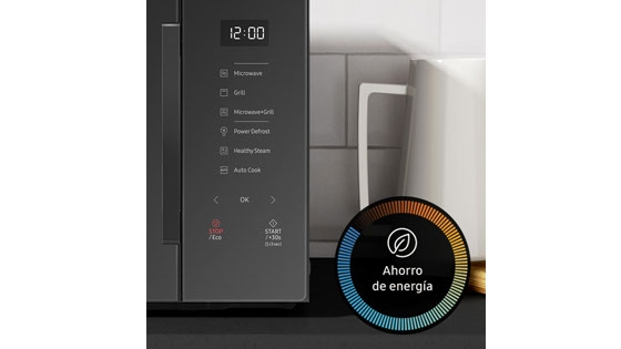 Samsung Microondas Grill Fry Porcelana Control Touch, 30 Lts