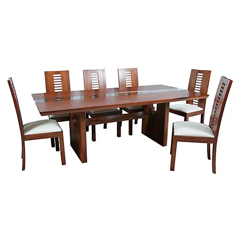 Basement home juego de comedor 8 sillas diva 220 x 110 for Juego de comedor de 8 sillas moderno