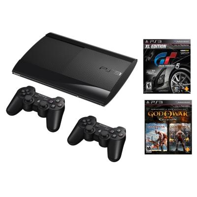 Consola 250GB PS3 + 1 Control extra + God  of  War 1&2 + Gran Turismo 5 XL