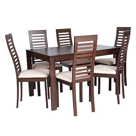 Mica juego de comedor alessi 6 sillas for Comedores falabella chile