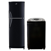 Refrigerador No Frost Black 267 lt + Lavadora Automática 7,5 kg