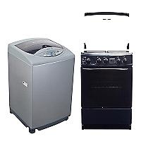Lavadora Automática 7 kg + Cocina 4 Quemadores