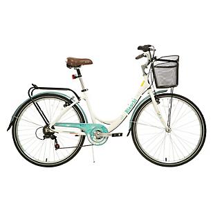 Bicicleta Aro 26 City Blanco