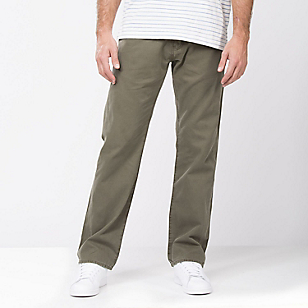 Pantalón Calce Regular Twill Verde