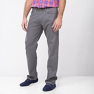 Pantalón Calce Regular Twill Gris