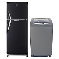 Combo Refrigerador No Frost 7105 + Lavadora Automática 9870