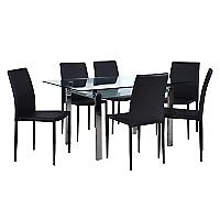Juego de Comedor mesa Calem con 6 sillas Piana