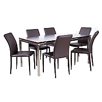 Juego de Comedor mesa Range con 6 sillas Alberte