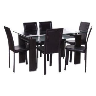 Juego de comedor 6 sillas prisma royal caf mica for Juego de comedor de vidrio precios