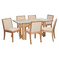Juego de Comedor Tucson 6 sillas Natural