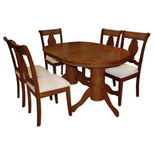 Juego de comedor valerie 6 sillas roberta allen for Juego de comedor de madera de 6 sillas