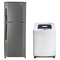 Combo Lavadora Automática T7360TDFP 6 Kg + Refrigerador No Frost GN-V292RLC 251 Lts