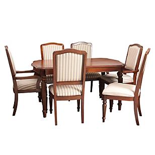 Juego de comedor Exton 4 sillas + 2 sitiales