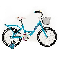 Bicicleta Aro 16 Kitty Celeste-Blanco