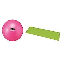 Set de Balón Gym Ball 65 cm + Colchoneta de Yoga Verde