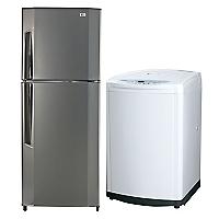 Combo Refrigerador No Frost LG 292 de 251 lt + Lavadora Automática LG 8,5 kg