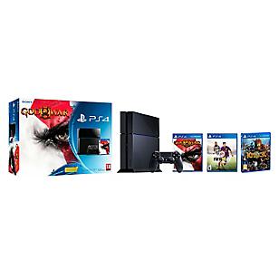 Consola PS4 500GB + God Of War III +  Fifa 2015 +Knack