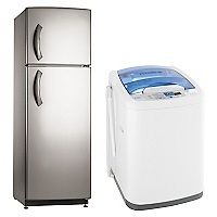 Combo Refrigerador No Frost 299 lt + Lavadora Automática 8,5 kg