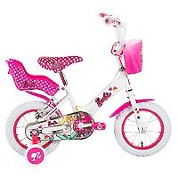 Bicicleta Aro 12 Barbie Blanca