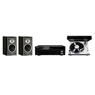 Receiver Stereo 4508 BT + Tornamesa Profesional PM-9805 + Parlante JBL Balboa 10